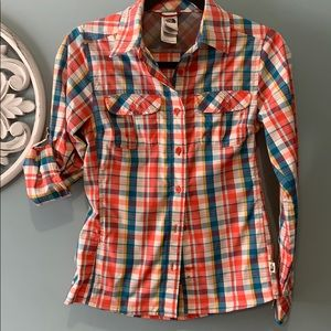 North Face button down shirt